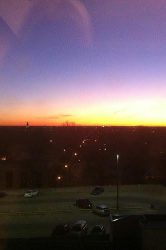 sunrise in the burn ICU