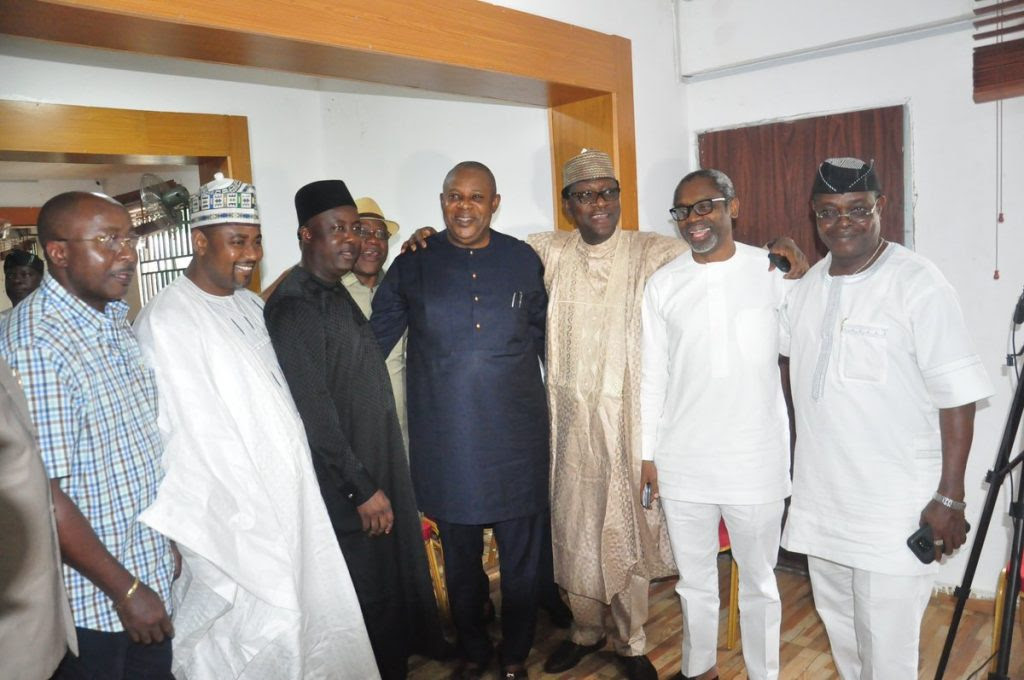 Oshiomhole, APC NWC Meet APC House Of Representatives Caucus (Photos)