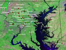 Map of Maryland beekeepers