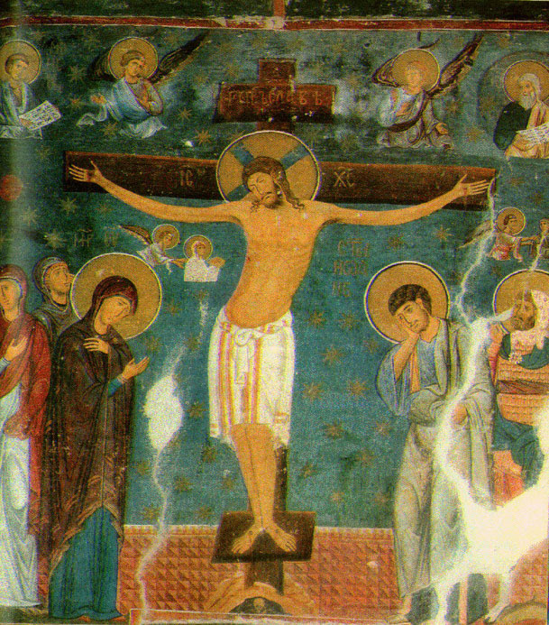 Распеће, фреска из манастира Студеница
