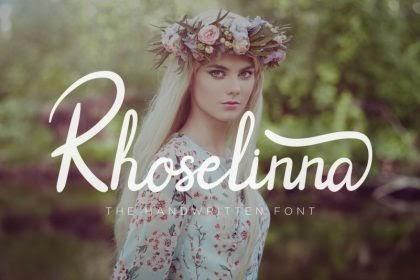 Rhoselinna Handwritten Font