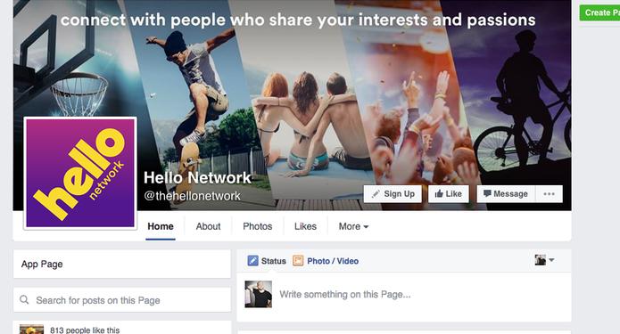 O Hello já está nas principais redes sociais (Foto: Reprodução/Felipe Vinha)