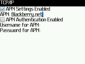Cara Setting APN Access Point Name Pada BlackBerry