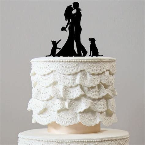 Wedding Cake Topper 1 Dog &1 Cat (Family Pet Puppy
