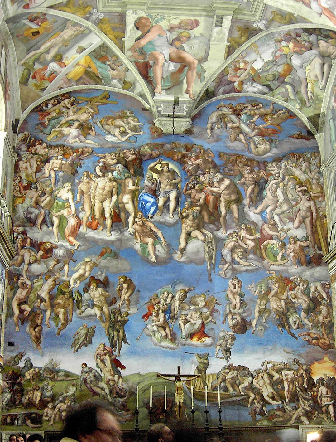 Afresco, O Juízo Final D' Michelangelo Buonarroti (Capela Sistina, Palácio Apostólico,Vaticano