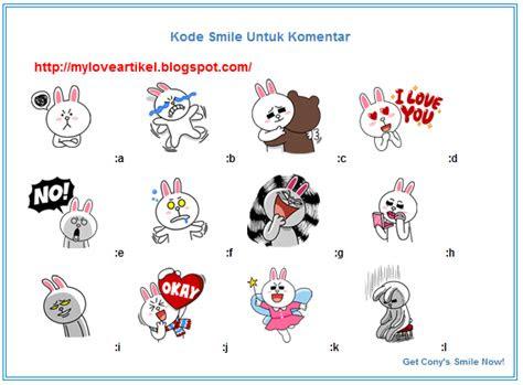 memasang emoticon smiley cony cute stiker