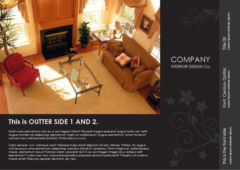 Black Nature Interior Design Flyer by print4dummies on deviantART