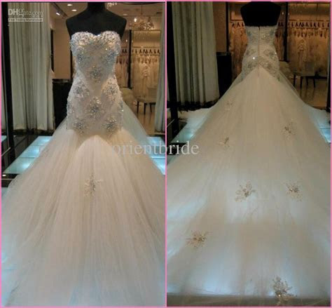 wholesale sweetheart strapless lace mermaid wedding