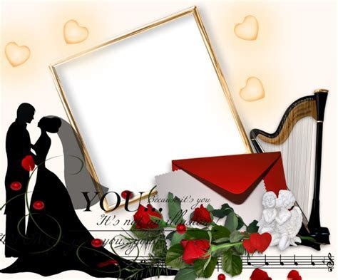 Romantic Wedding PNG Photo Frame   Gallery Yopriceville