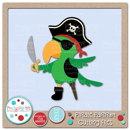 Pirate Parrot Cutting Files