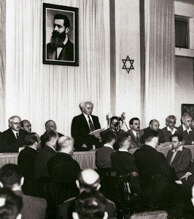 Ông Ben Gurion tuyên bố thành laaoj nhà nước Israel năm 1947