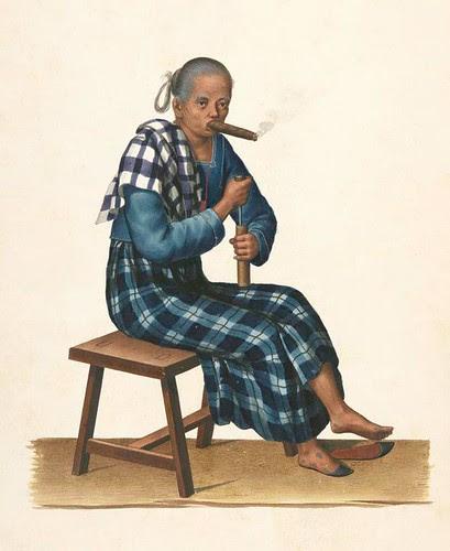 Filipino costume - old woman