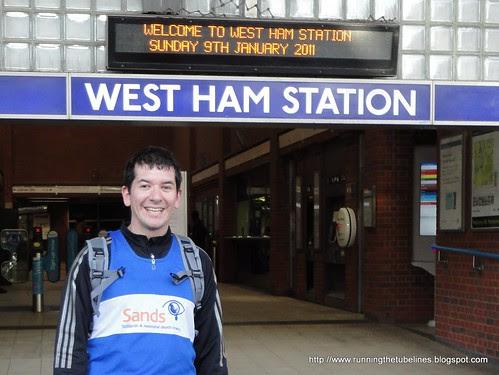 Stephen at West Ham Tube station