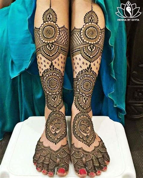 Best 25 Bridal Mehndi Design for Legs   Art & Craft Ideas
