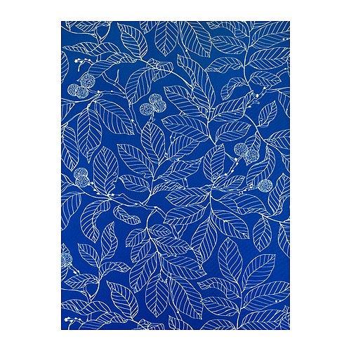 IKEA STOCKHOLM BLAD Metervare, blå Bredde: 150 cm Mønsterhøyde: 102 cm