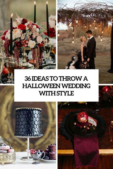 36 Ideas To Throw A Halloween Wedding With Style