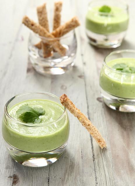 verrine of cucumber and avocado