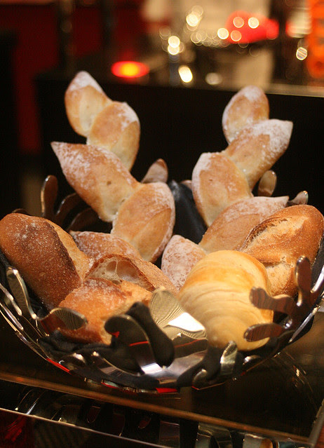 Bread basket, baked inhouse by Baker Chef Yoshihiko Tauchi