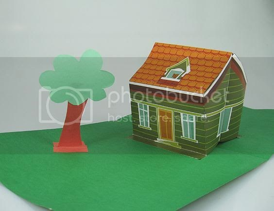 Papermau 3d pop up house papercraft by uol casa 3d pop up for Make your own house 3d