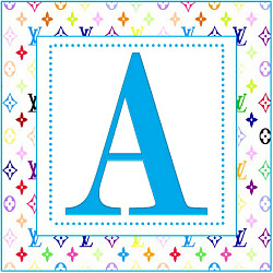 Inspired By Louis Vuitton Printable Alphabet Letters A Through Z
