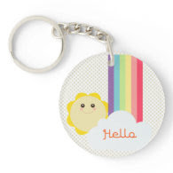 Cute Sun & Rainbow Key Chain Acrylic Keychain