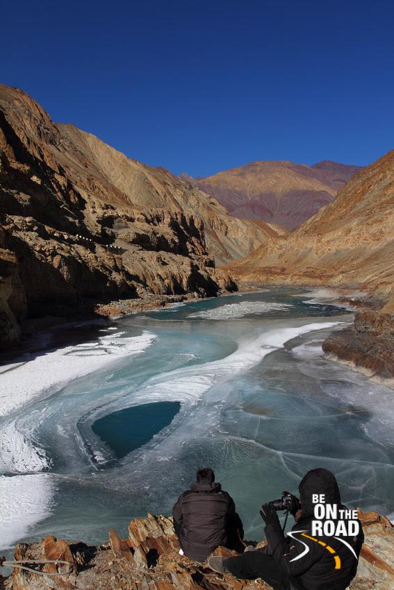 Frozen Zanskar river of Ladakh