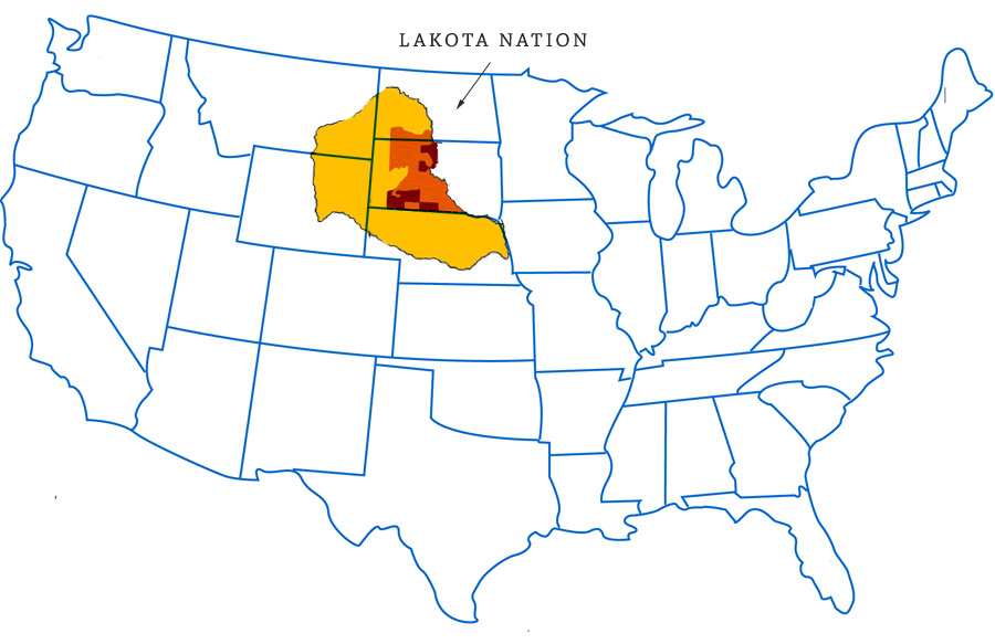 Map of the Lakota Nation