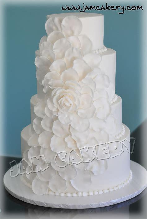 Petal Wedding Cake   J.A.M. Cakery