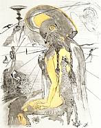 Salvador Dalí - Athene: From the Mythology Suite (Works on Paper (Drawings, Watercolors etc.))