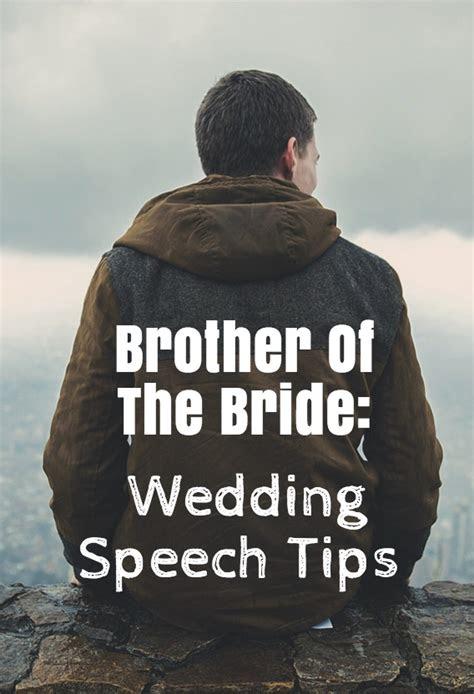 brother  bride speech wedding planning tips