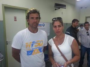 Eduardo Werneck, amigo do ciclista atropelado em Ipanema (Foto: Renata Soares/G1)