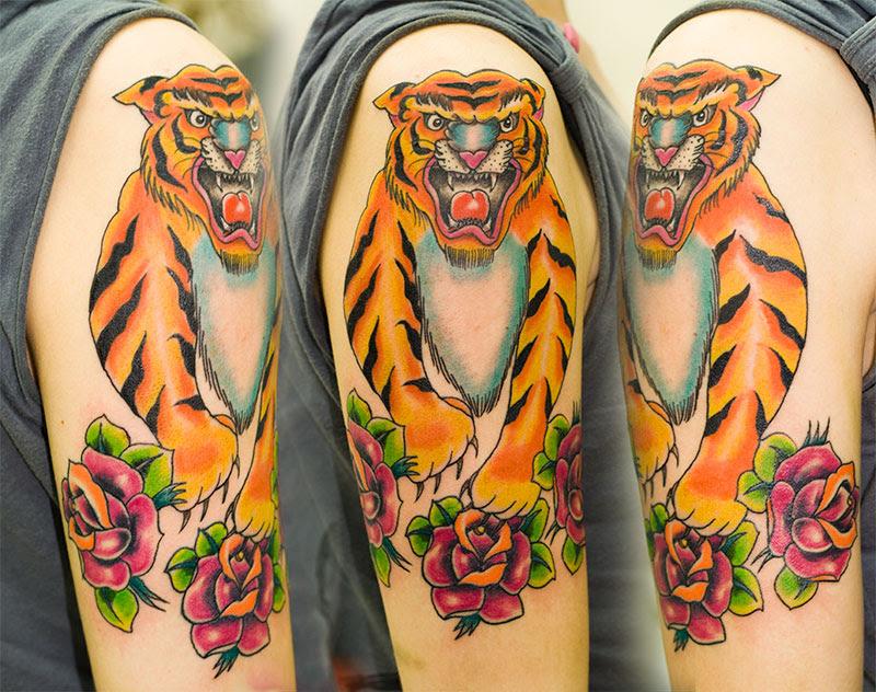 Harri Bastardio Blog Archive Tiger Roses Tattoo