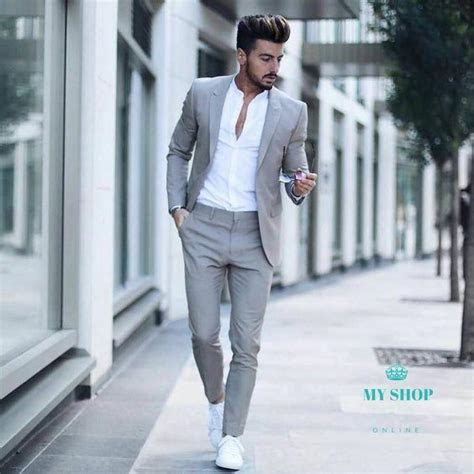Men Wedding Suits Prom Best Man Suit (Jacket Pants Bow