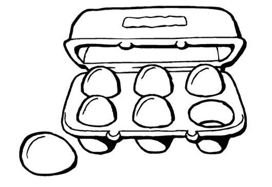 Media Docena De Huevos Para Pintar Y Colorear Un Carton De 6 Huevos