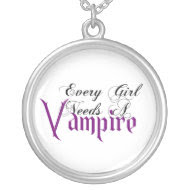 KRW Every Girl Needs a Vampire Silver Necklace necklace