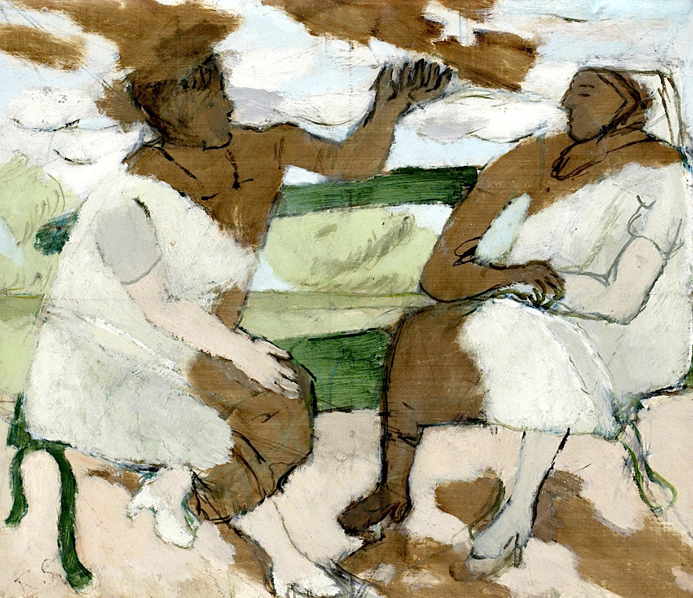 Ragnar Sandberg 1902-1972 Conversation on a Park Bench