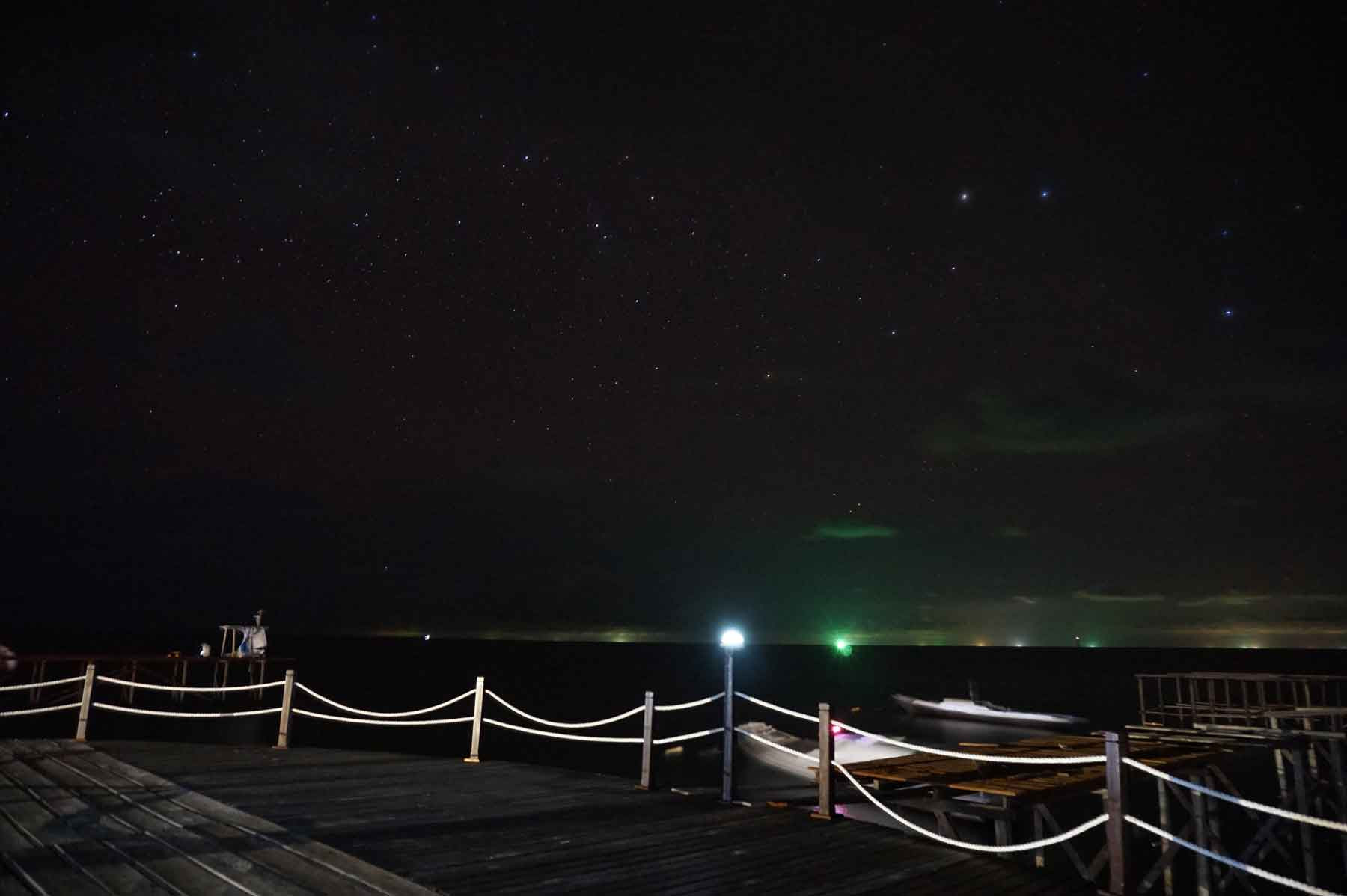 Milky Way di Depan Dermaga Derawan Fisheries