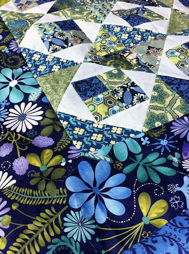 Blue Pool Quilt Top