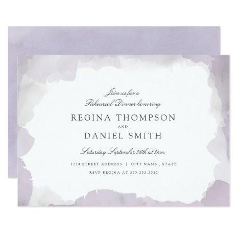 Debonair Lavender Rehearsal Dinner Card