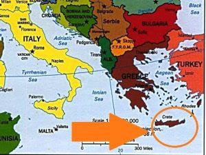 Картинки по запросу Крит на карте