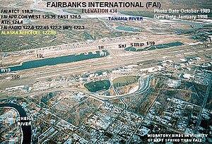 Annotated aerial photograph of (FAA: FAI) in F...
