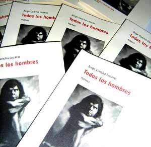 """Portada del libro """"Todos los hombres"""" , obra póstuma del poeta tucumano Jorge Concha Lozano, editado por Fernando Pérez Poza en Pontevedra, Galicia, España"""