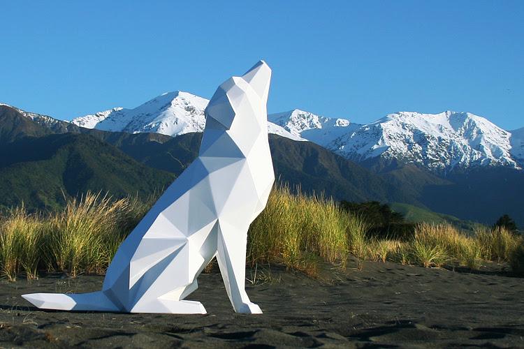 Geometric Animal Sculptures by Ben Foster geometric animals