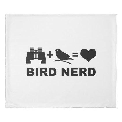 Birder Birdwatcher Funny Bird Nerd Duvet Cover
