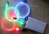 アイフォン5 充電器 ライトニング 充電ケーブル 光る LED Lightning USB 全3色 iPhone5 ipad ipadmini (レッド)