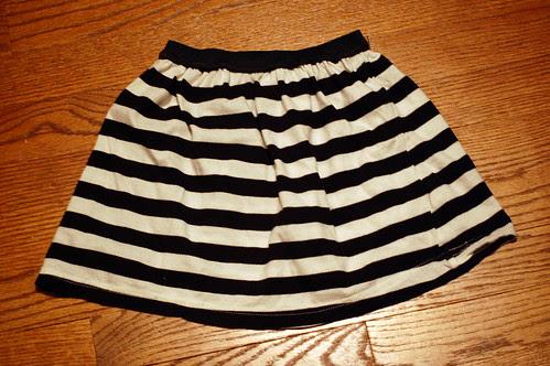 Stripey T-shirt Skirt!