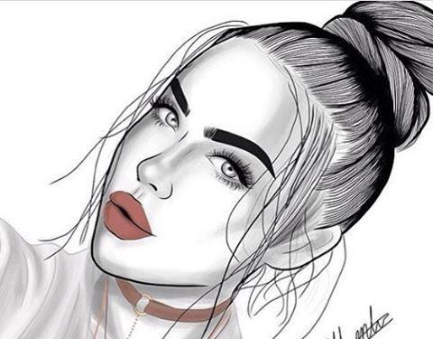 Pinterest Tumblr Cute Girl Drawing