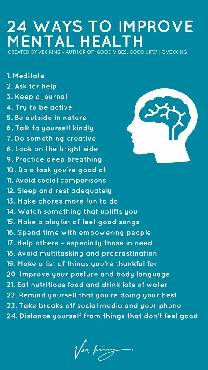 Poster : 24 Ways To Improve Mental Health