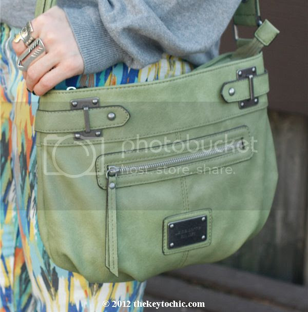 Liz Claiborne crossbody green handbag
