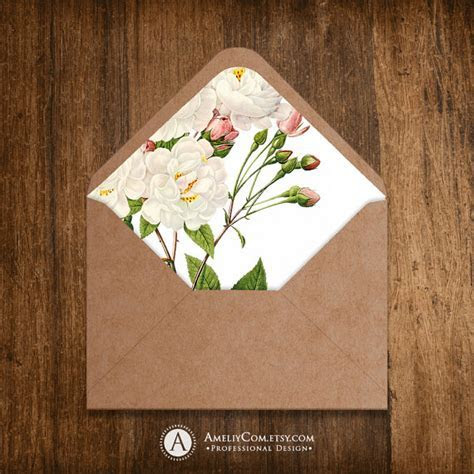 Printable Envelope Liner Template INSTANT DownLOAD for A6 and